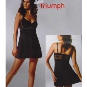 Triumph Black Lingerie Babydoll Nightgown Dress